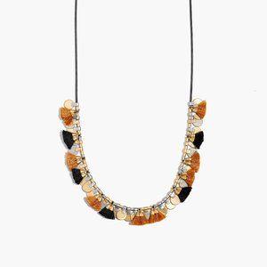 Madewell Tassel Diskdrop Necklace